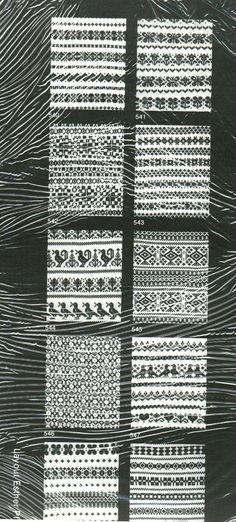 Machine Knitting 10 Handy Punch Patterns Regine Faust s 540 Fair Isle Borders | eBay