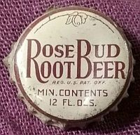 Rose Bud Root Beer, bottle cap | Madison Try-Me Bottling Co., Madison, Indiana USA Bottle Top, Beer Bottle, Madison Indiana, Root Beer, Globes, Rose Buds, Boyfriend, Graphics, Buttons