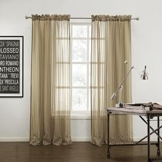 Striped Mediterranean Brown sheer Curtains  #curtains #decor #homedecor #homeinterior #brown