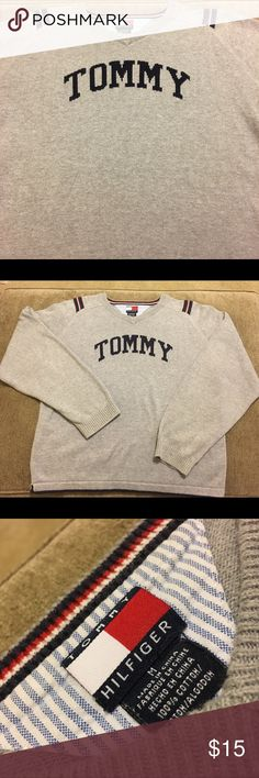Tommy Hilfiger Kids Medium Sweater Tommy Hilfiger Sweater  Kids Size: Medium Style: Sweater Top Color: Gray Brand: Tommy Hilfiger  Condition: Pre Owned  Any questions, please ask!  JG. MINISTRIES Tommy Hilfiger Shirts & Tops Sweaters