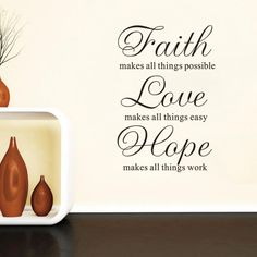 2016 Hot Sale Faith Love Hope Living Room Bedroom Wall Stickers Wholesale Can Be Removed #Affiliate