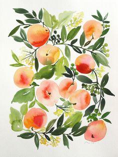 "Yao Cheng original WC ""Peach Harvest cvo_010.jpg"