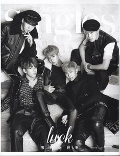 BTS for Singles Magazine January 2017 Issue❤ #BTS #방탄소년단