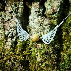 Golden snitch! Sterling Silver necklace. Harry Potter inspired!