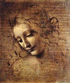 Leonardo da Vinci - Cabeza de una mujer