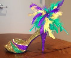 Confessions of a glitter addict: Purple, Green and Gold Sandal