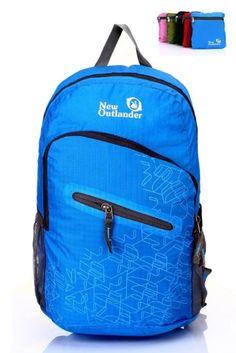 Outlander Packable Handy Lightweight Travel Hiking Backpack Daypack-light  Blue Lightweight Travel Backpack 958c0424fdb7b