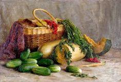 "Kondrat Maksimov, Russian, Shishkino, Vyatka province 1894 - Kazan, 1981, ""Огурцы/ Cucumbers"" (1962)"