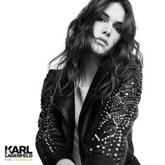 Karl Lagerfeld For Falabella Karl Lagerfeld, Leather Jacket, Jackets, Fashion, Getting To Know, Tents, Moda Femenina, Over Knee Socks, Studded Leather Jacket