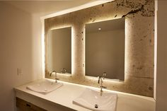 8 Reasons Why You Should Have A Backlit Mirror In Your Bathroom // They Add A Sense Of Drama --- Backlit mirrors aren't widely used (yet). Because of this they're unexpected and create a dramatic effect for those who enter the bathroom for the first time.