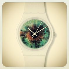Keep an 'EYE' on the time. A watch that look like your eye.