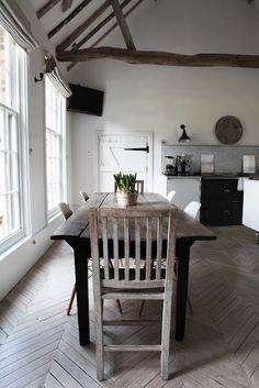 dining rooms, décor de, rustic table, floor, rustic interiors