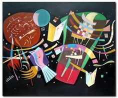 Composition X is a famous Wassily Kandinsky canvas painting painted in 1939.  sound/art examples