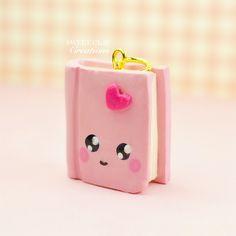 Mini Book Kawaii Charm Polymer Clay Handmade Jewelry by Sweet Clay Creations