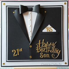 007 inspired male 21st birthday card.