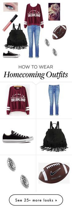 """""""Homecoming Game"""" by natalierose01 on Polyvore featuring rag & bone, NARS Cosmetics, Converse, NIKE and Jewel Exclusive"""