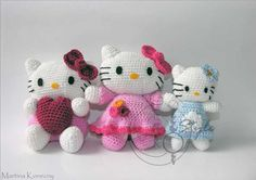 Hello Kitty - Cute Handmade Crochet Dolls Toys by Martina