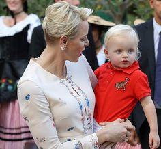 Prince Albert, Princess Charlene and Prince Jacques at 2016 traditional Monaco's picnic.   10-9-2016