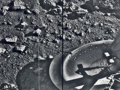 Taken by the Viking 1 lander shortly after it touched down on Mars, this image is the first photograph ever taken from the surface of Mars.
