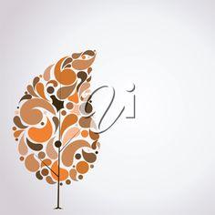 iCLIPART - Vector illustration of abstract autumn tree