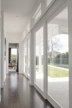 Wooden Sliding Doors - January 06 2019 at Indoor Sliding Doors, Timber Sliding Doors, Bifold French Doors, Barn Doors, Style At Home, Bungalow, Interior Exterior, Interior Door, Modern Pools