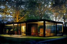All sizes | Glass House, dusk - Philip Johnson arch. | Flickr - Photo Sharing!
