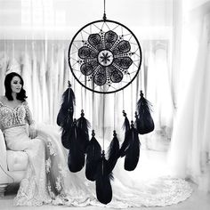 Cheap decorating style, Buy Quality decorative decorative directly from China decorative home decor Suppliers: Indian Style Dreamcatcher Handmade Wind Chimes Hanging Pendant Dream Catcher Home Wall Art Hangings Decorations Dream Catcher Price, Dream Catchers For Sale, Dream Catcher Wedding, Black Dream Catcher, Feather Dream Catcher, Diy Dream Catcher, Beautiful Dream Catchers, Dream Wedding, Indian Style