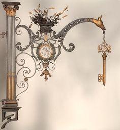 Bella Simbologia de la Abadía. Forjada en hierro y cobre...