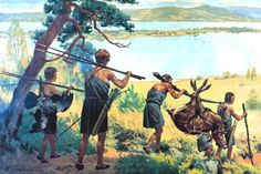 Neolithic hunters returning home...