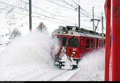 54 RhB - Rhätische Bahn ABe 4/4 at Bernina Lagalb, Switzerland by Georg Trüb