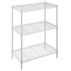 Stackable White Wire Shelves Stackable White Wire Shelves hdx 3 shelf 30 in h x 24 in w x 14 in d wire unit in white 1000 X 1000 Stackable White Wire Garage Storage Shelves, Wire Shelving Units, Steel Shelving, Wire Storage, Shelving Systems, Industrial Shelving, Metal Shelves, Storage Spaces, Free Standing Shelves