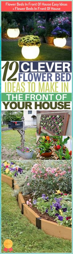 Flower Beds In Front Of House Easy Ideas + Flower Beds In Front Of House #Flower...#beds #easy #flower #front #house #ideas Garden Front Of House, House Front, Home And Garden, Succulent Pots, Succulents, Garden Fencing, Fence, Diy Projects For Beginners, Real Plants