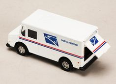 "2X USPS Mail Truck (4.5"", White) US POSTAL TRUCK  diecast"