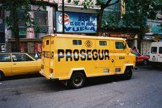 ARMOURED CAR / Madrid, Spain 1992 / Photo by Steve Frenkel