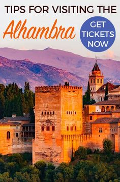 TIPS FOR ALHAMBRA: Tips for Visiting the Alhambra in Granada -how to get tickets-plan your visit - what to do if Alhambra tickets are sold out #alhambra #granada