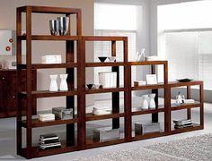 Mueble biblioteca escalonada repisa o divisor de ambientes for Libreros modernos