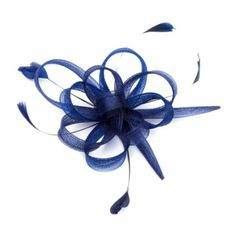 Floral Ribbon Design Fascinator Hair Clip