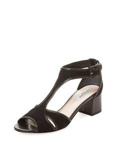 Gena Suede T-Strap Sandal by L.K.Bennett at Gilt