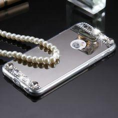 Glitter Rhinestone Diamond Mirror iPhone Case