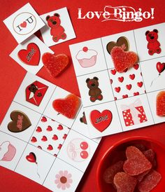 Bird's Party Blog: FREEBIE Printables: Valentine's Bingo!! (for school party?)