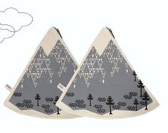 geometric mountain pillow