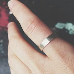 A new unisex ring for the collection  this guy is formed from a sturdy band of sterling silver and filed to create a subtle faceted texture. Simple, but doesn't it look handsome?  #handmadejewellery #jewelry #jewellerydesign #unisexjewelry #organicjewelry #silver #rings #precious #sparkles #bespoke #stackingrings