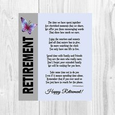 Hey, I found this really awesome Etsy listing at https://www.etsy.com/listing/266721142/retirement-poem-retirement-gift-co