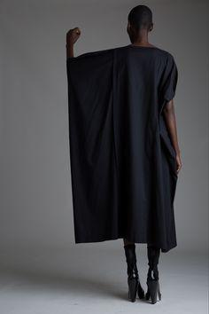 Vintage Issey Miyake Dress. Designer Clothing Dark Minimal Street Style Fashion