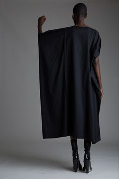 Vintage Issey Miyake Dress. Designer Clothing Dark Minimal Street Style Fashion
