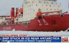Ice Breaker Gets Stuck Trying to Rescue Global Warming Scientists Trapped in Antarctic Ice HO HO HO