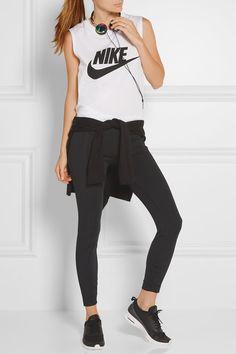 Nike   Bonded stretch-jersey leggings   NET-A-PORTER.COM