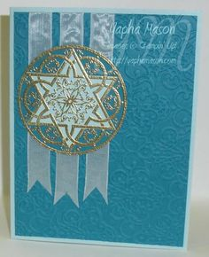 Jewish Celebrations in Indigo & Gold by Yapha - Cards and Paper Crafts at Splitcoaststampers