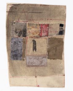 "Hannelore Baron | Works, ""Untitled"", 1976, cloth, paper and ink,"