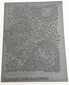 """NEW! CF Stamp/texture sheet - """"Van Gogh"""" #stampsheet #texture #texturesheet #diySupplies #craftSupplies #artTextures #christifriesen #polymerclay"""